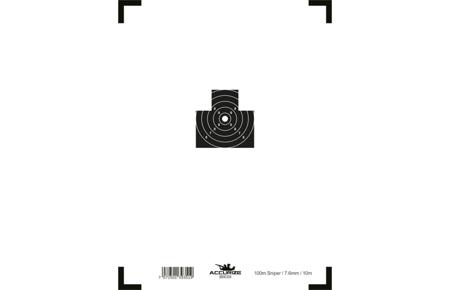 Wymienna tarcza - Sniper 100m / 7,6mm / 10 m